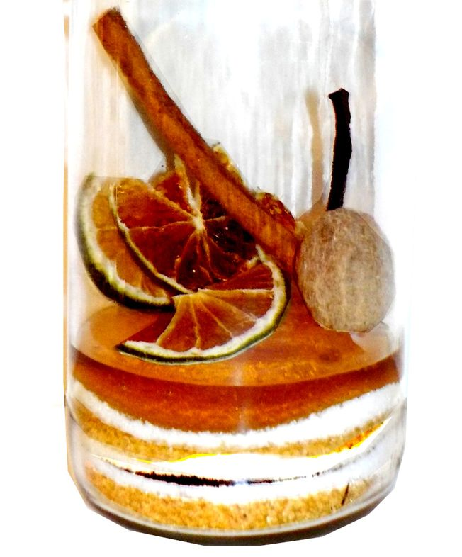 Préparation for flavoured rum vanilla, lime